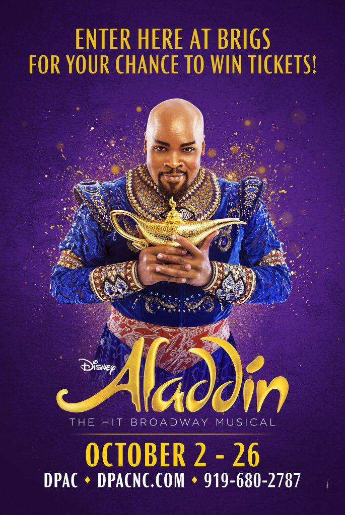 Aladdin tickets from Brigs